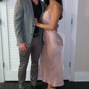 Topshop long pink dress